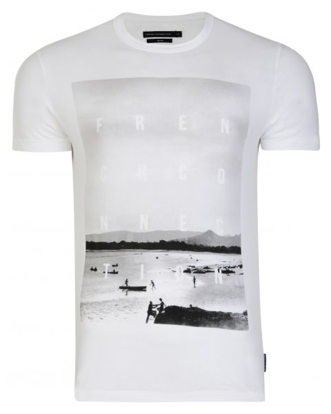 French Connection Bondi Summer T-shirt White | Jean Scene