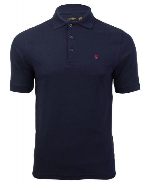 Farah Polo Pique Shirt True Navy   Jean Scene
