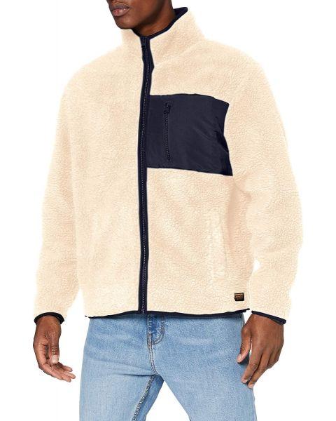Superdry NYC Sherpa Fleece Jacket Ecru