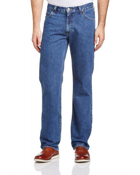 Lee Brooklyn Denim Jeans Dark Stonewash Blue Image