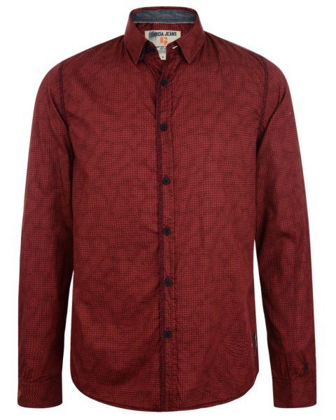 Garcia Jeans Long Sleeve Pattern Shirt Radish Red Image