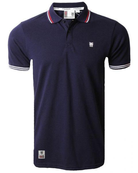 Fenchurch Men's Blackwall Polo Shirt Peacoat Blue