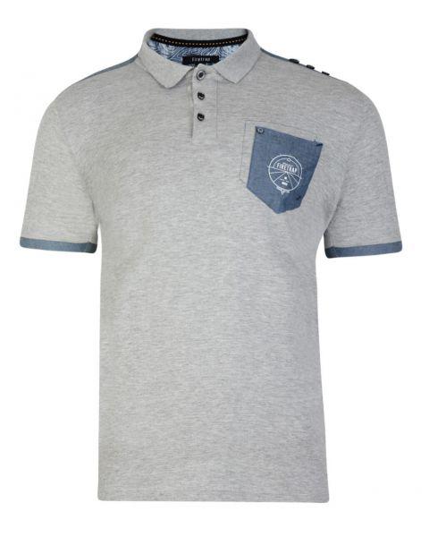 Firetrap Men's Polo Shirt Heaton Grey Marl