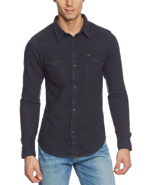 Lee Western Denim Shirt Pitch Black Image