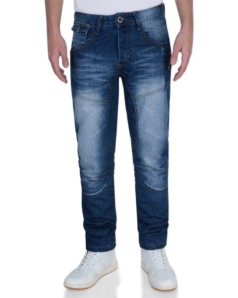 Firetrap Slim Fit Denim Jeans Stone Wash Blue Lowth Image