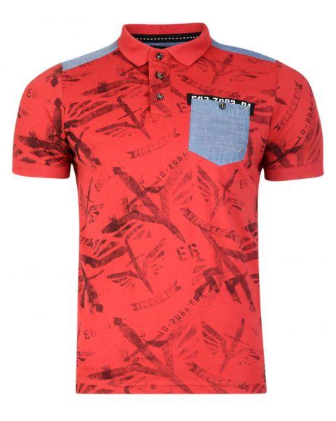 Firetrap Men's Polo Shirt Lowden Red
