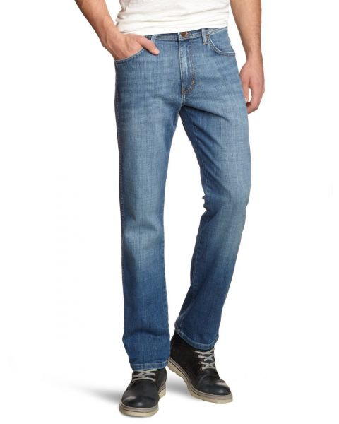 Wrangler Jeans Texas Stretch Denim Worn Broke Blue