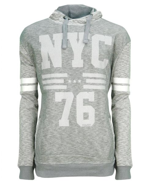 Soul Star Overhead NYC 76 Logo Hoodie Grey