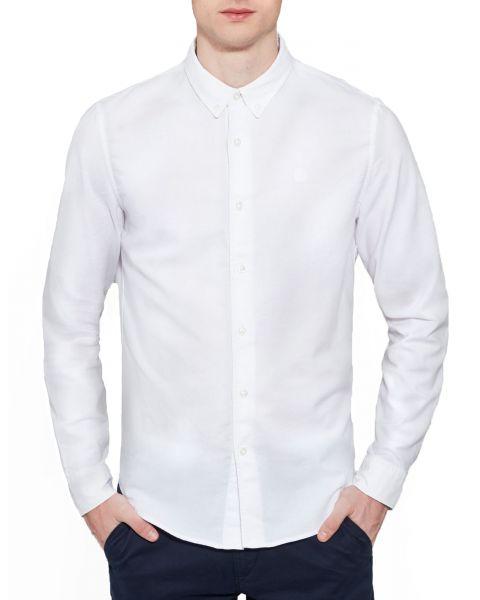 Timberland Oxford Slim Rattle Shirt Long Sleeve White | Jean Scene