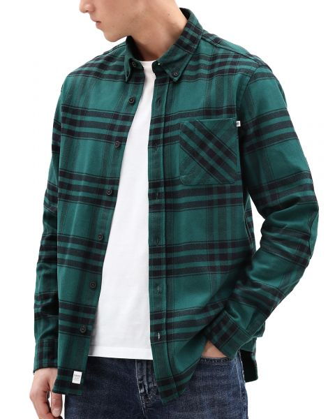 Timberland Flannel Check Shirt Long Sleeve Forest Biom | Jean Scene