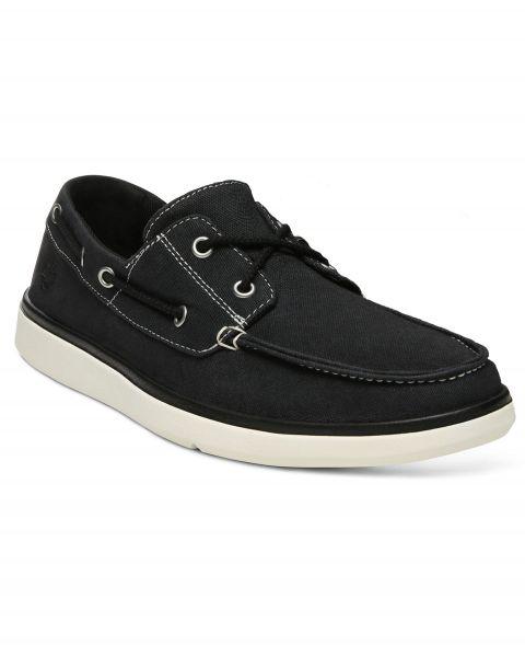 Timberland Men's Pier Boat Shoes Gateway Black   Jean Scene