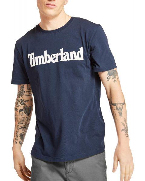 Timberland K-R Regular Logo T-Shirt Long Sleeve Dark Sapphire | Jean Scene
