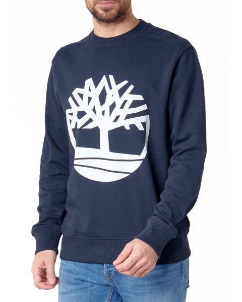 Timberland Big Tree  Logo Sweatshirt Long Sleeve Dark Sapphire   Jean Scene