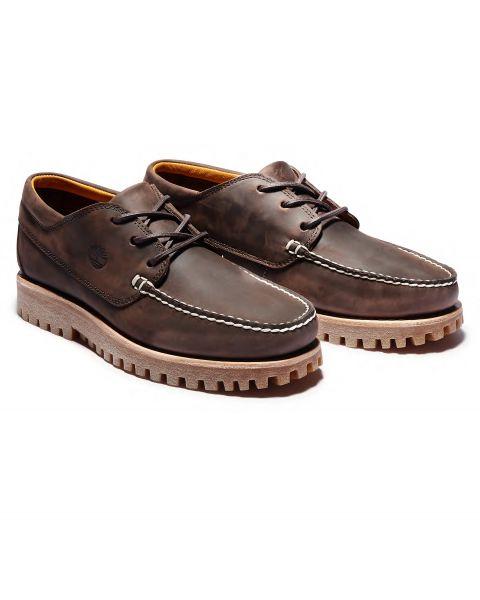 Timberland Mens Jackson Landing Leather Slip On Shoes Mocha Dark Brown | Jean Scene