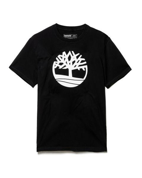 Timberland K-R Brand Tree Regular Logo T-Shirt Black | Jean Scene