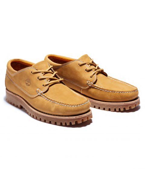 Timberland Mens Jackson Landing Leather Slip On Boots Boots Mocha Wheat | Jean Scene