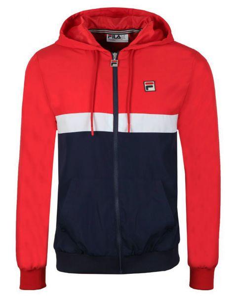 Fila Men's Ambrose Colour Block Track Jacket Chinese Red | Jean Scene