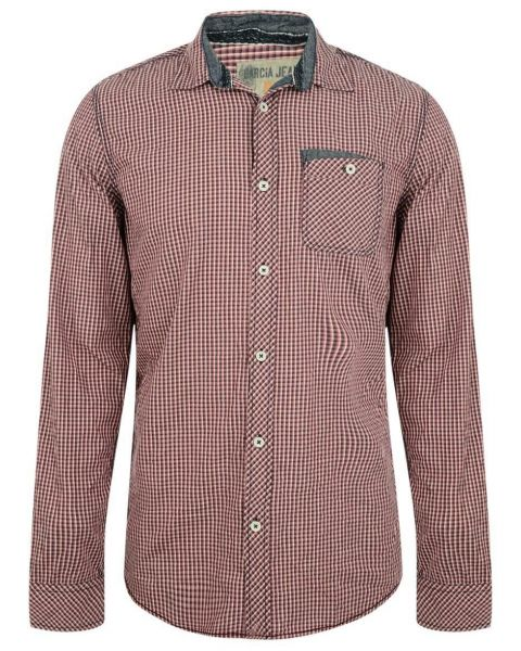 Garcia Jeans Long Sleeve Check Shirt Radish Red Image