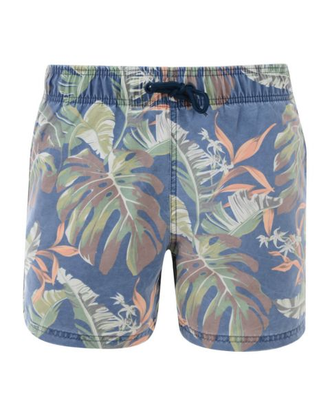 Blend Casual Summer Floral Shorts Charocoal Red Image