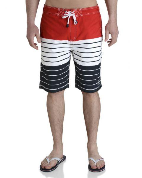 Smith & Jones Beach Swim Shorts & Flip Flop Set Stripe Red Image