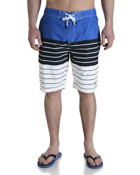 Smith & Jones Beach Swim Shorts & Flip Flop Set Stripe Blue Image