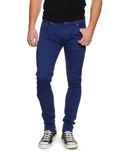Soul Star Slim Tapered Skinny Fit Royal Blue Denim Jeans Image