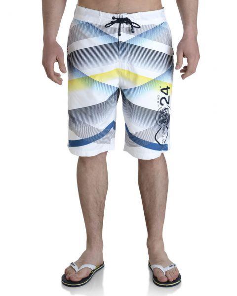 Smith & Jones Swim Beach Shorts & Flip Flop Set Stripe White Image