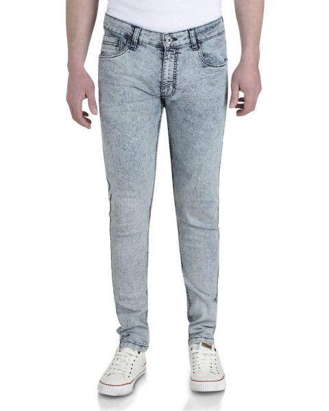 Soul Star Slim Tapered Skinny Fit Light Wash Snow Jeans Image