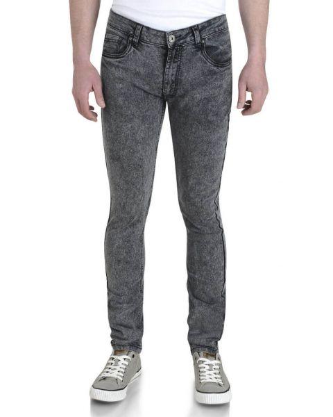 Soul Star Slim Tapered Skinny Fit Dark Wash Snow Jeans Image