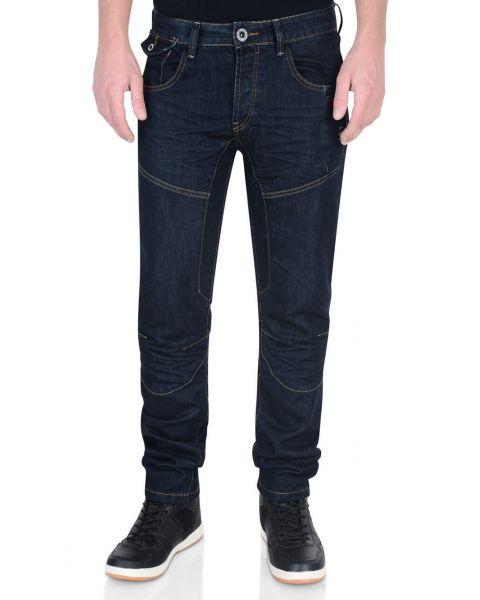 Firetrap Slim Fit Denim Jeans Dark Blue Raw Wash Lowth Image