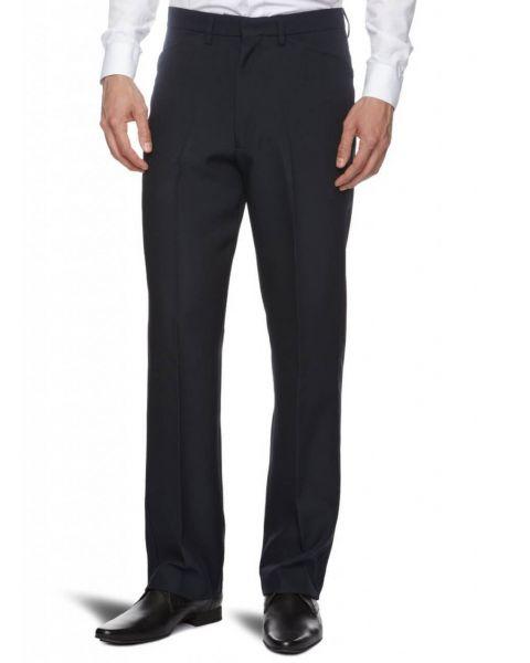 Farah Hopsack Trousers Navy Blue Image