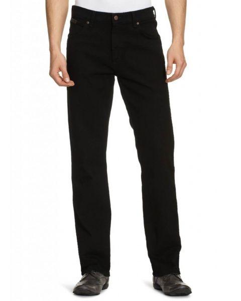 Wrangler Texas Stretch Denim Jeans Black Overdye Image