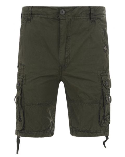 Soul Star Casual Cargo Bermuda Shorts Olive Green Image