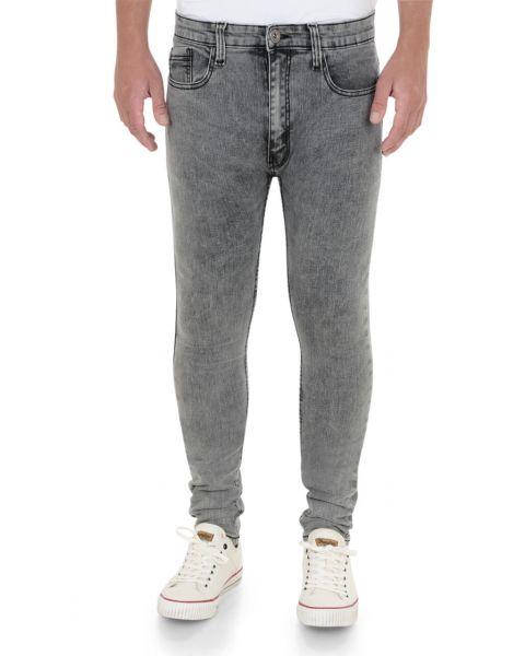Soul Star Slim Tapered Skinny Fit Grey DenimJeans Image