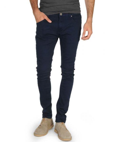 Soul Star Slim Tapered Skinny Fit Navy Blue Denim Jeans Image