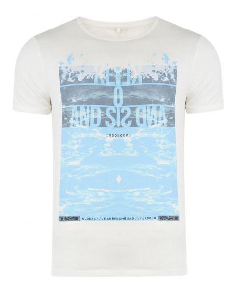 Blend Kuta Surf Beach Summer Print T-shirt Beige Image