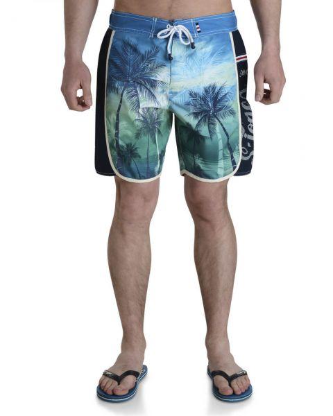 Smith & Jones Beach Swim Shorts & Flip Flop Set Kokomo Green Blue Image