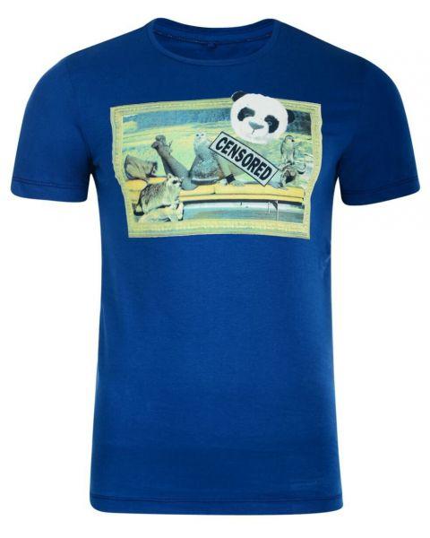 Blend Panda Girl Printed T-shirt Blue Image