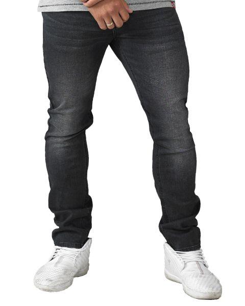 D555 Benson Stretch Denim Jeans Grey Stonewash | Men's D555 Jeans | Jean Scene