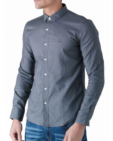 Duck and Cover Slim Birch Long Sleeve Shirt Grey | Jean Scene