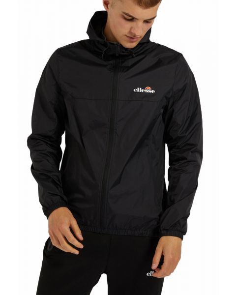 Ellesse Mens Mens Cesanet Hooded Windbreaker Jacket Black | Jean Scene