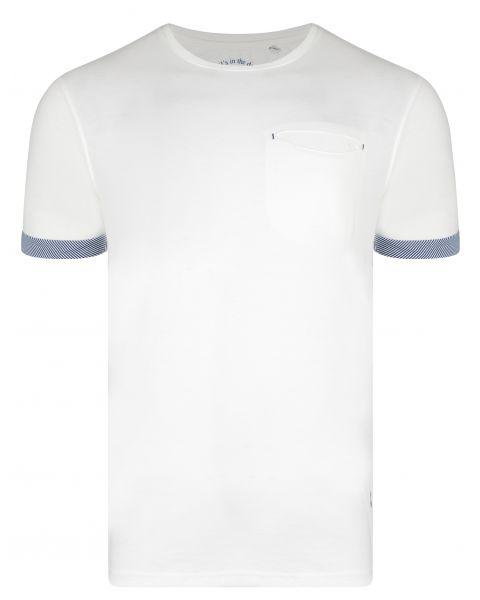Ringspun Clifton Crew Neck Cotton Plain T-shirt Off White | Jean Scene