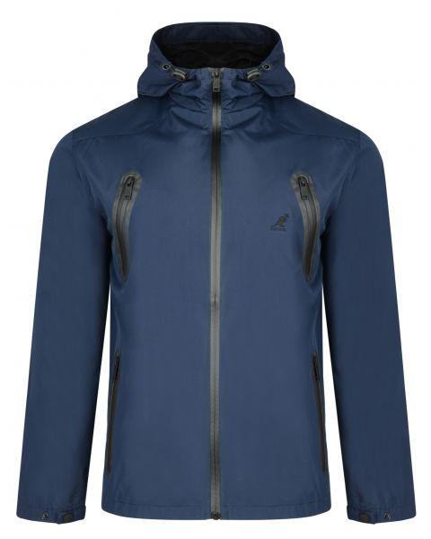 Kangol Hooded Windbreaker Lightweight Jacket Navy Blue | Jean Scene