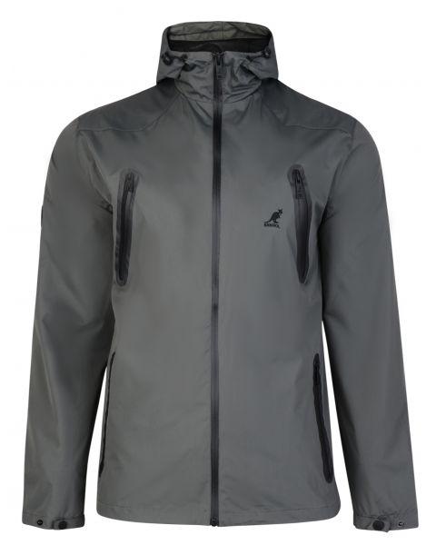 Kangol Hooded Windbreaker Lightweight Jacket Storm Grey | Jean Scene