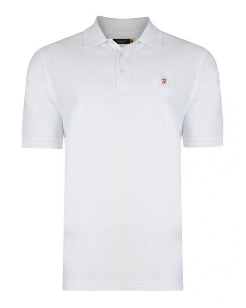 Farah Polo Pique T-Shirt White   Jean Scene