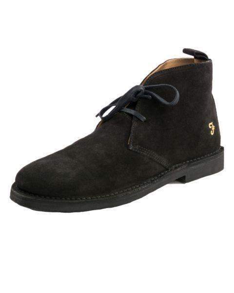 Farah Mens High Suede Leather Chukka Lozza Boots Black Shoes   Jean Scene