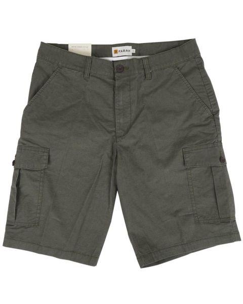 Farah Crane Ripstop Cargo Shorts Green