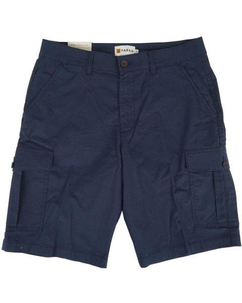 Farah Crane Ripstop Cargo Shorts Navy