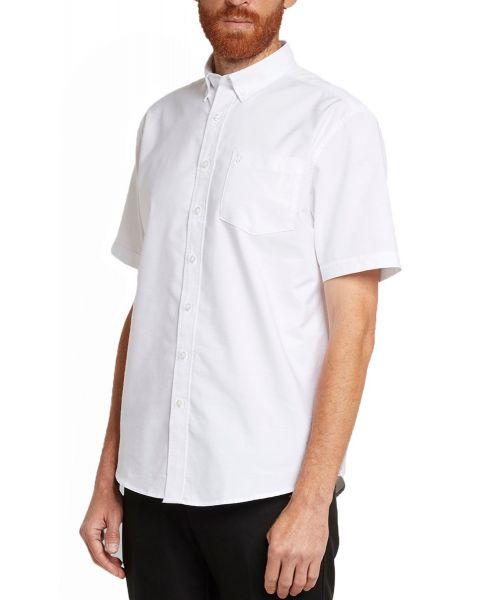 Farah Patterson Short Sleeve Shirt White
