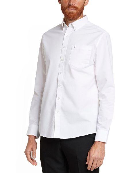 Farah Drayton Long Sleeve Shirt White